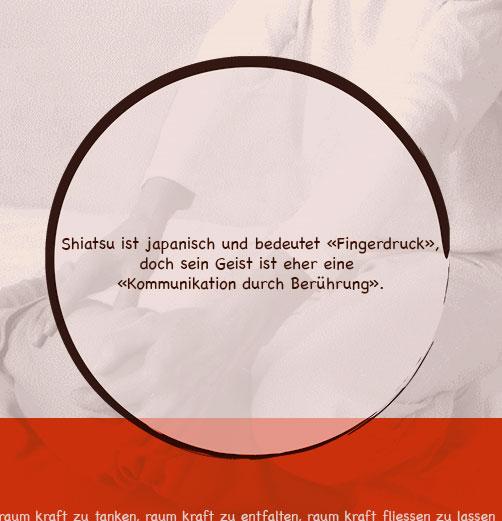 Die shiatsutherapie soll helfen die physische und psychische struktur